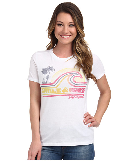 Life is good - Cool Tee (Cloud White 4) Women's Short Sleeve Pullover