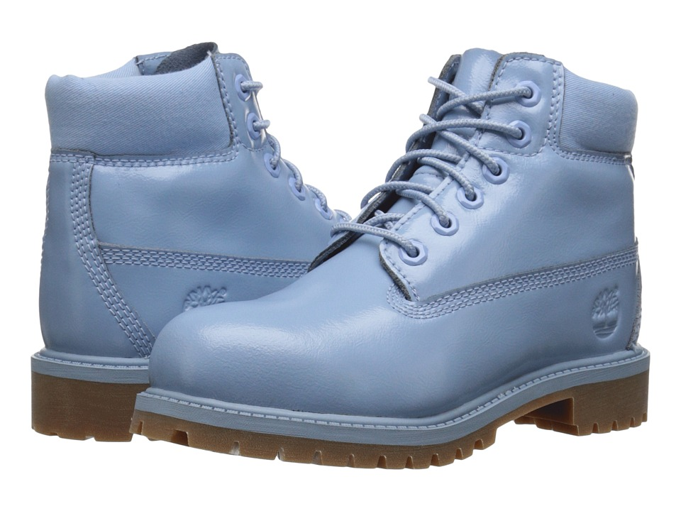 Timberland Kids - 6 Premium Waterproof Boot (Little Kid) (Light Blue Shine) Girls Shoes