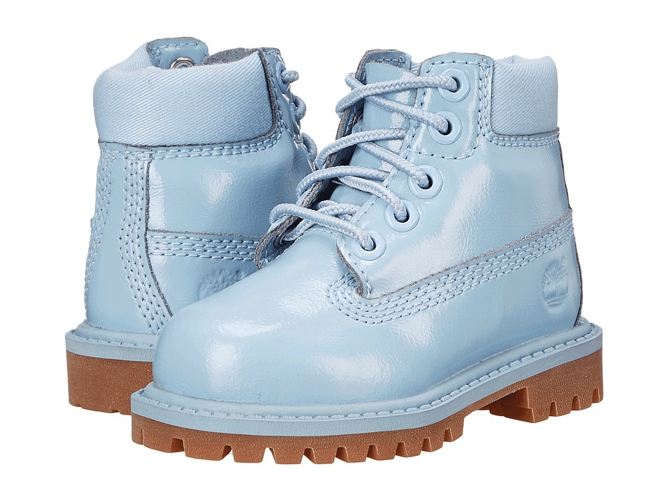 Timberland Kids - 6 Premium Waterproof Boot (Toddler/Little Kid) (Light Blue Shine) Girls Shoes