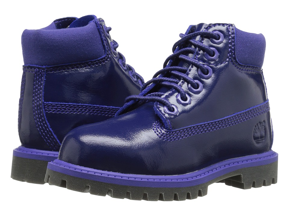 Timberland Kids - 6 Premium Waterproof Boot (Toddler/Little Kid) (Purple Shine) Girls Shoes