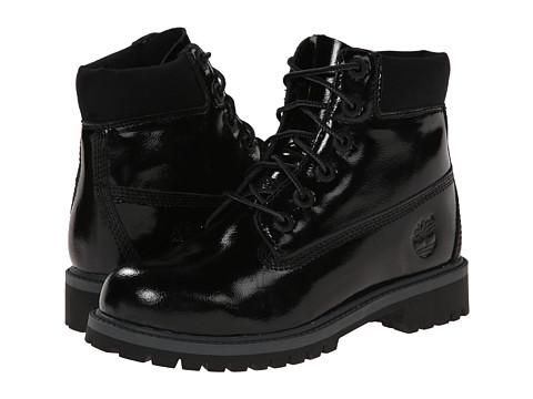 Timberland Kids - 6 Premium Waterproof Boot (Big Kid) (Black Shine) Girls Shoes