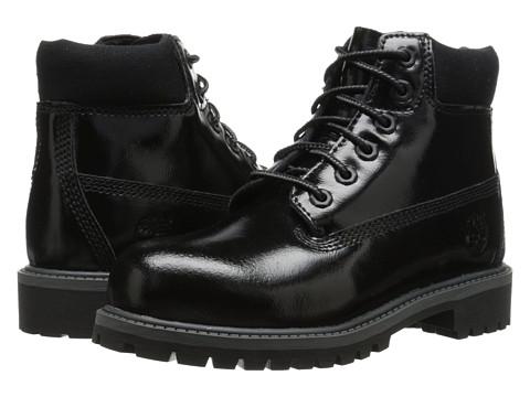Timberland Kids - 6 Premium Waterproof Boot (Little Kid) (Black Shine) Girls Shoes