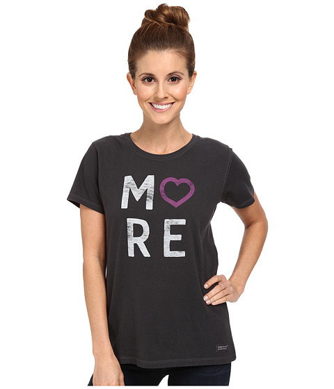 Life is good - More Heart Crusher Tee (Night Black) Women