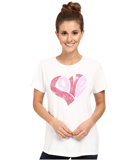 Life is good - Love Heart Crusher Tee (Cloud White) Women
