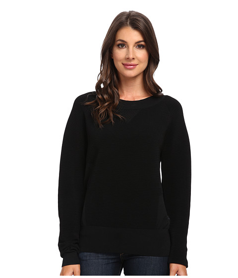 G-Star - Postuer L/S Knit in Leadger Knit (Black) Women's Long Sleeve Pullover