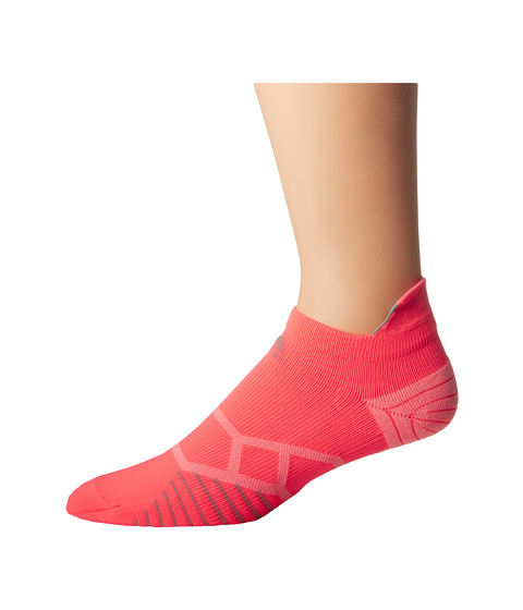 adidas - Energy Running Single Tabbed No Show (Flash Red/Light Onix) No Show Socks Shoes