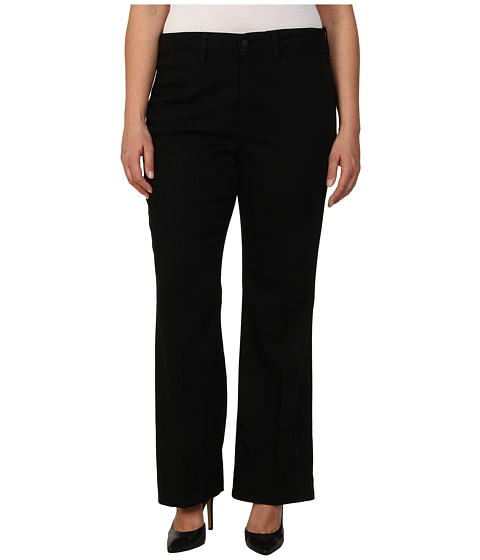 NYDJ Plus Size - Plus Size Gillian Trouser (Black) Women