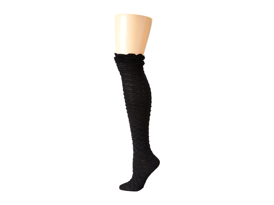 M&F Western - Blazin Roxx Fashion Sock (Black Honeycomb) Women's Knee High Socks Shoes