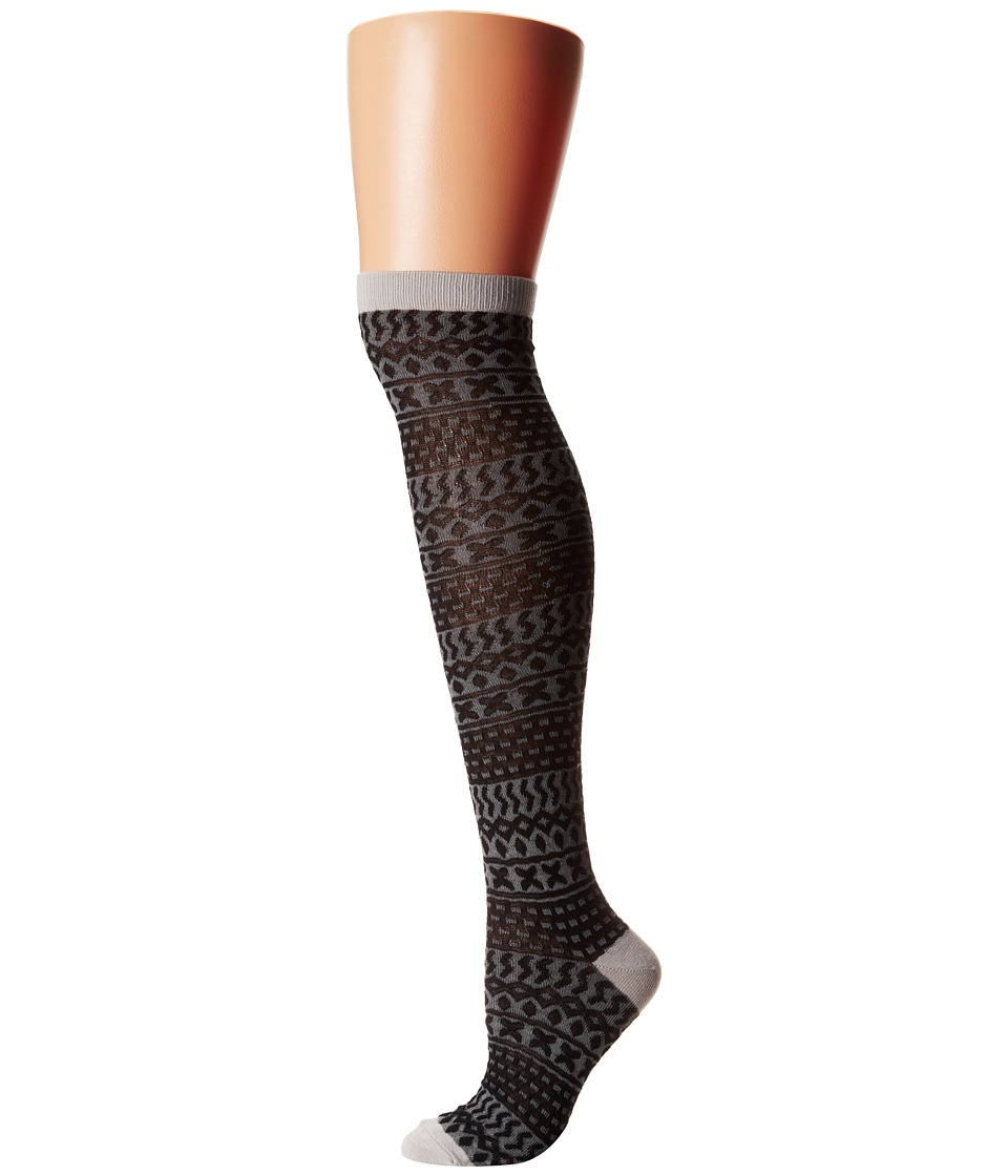 M&F Western - Blazin Roxx Fashion Sock (Black/Grey) Women's Knee High Socks Shoes