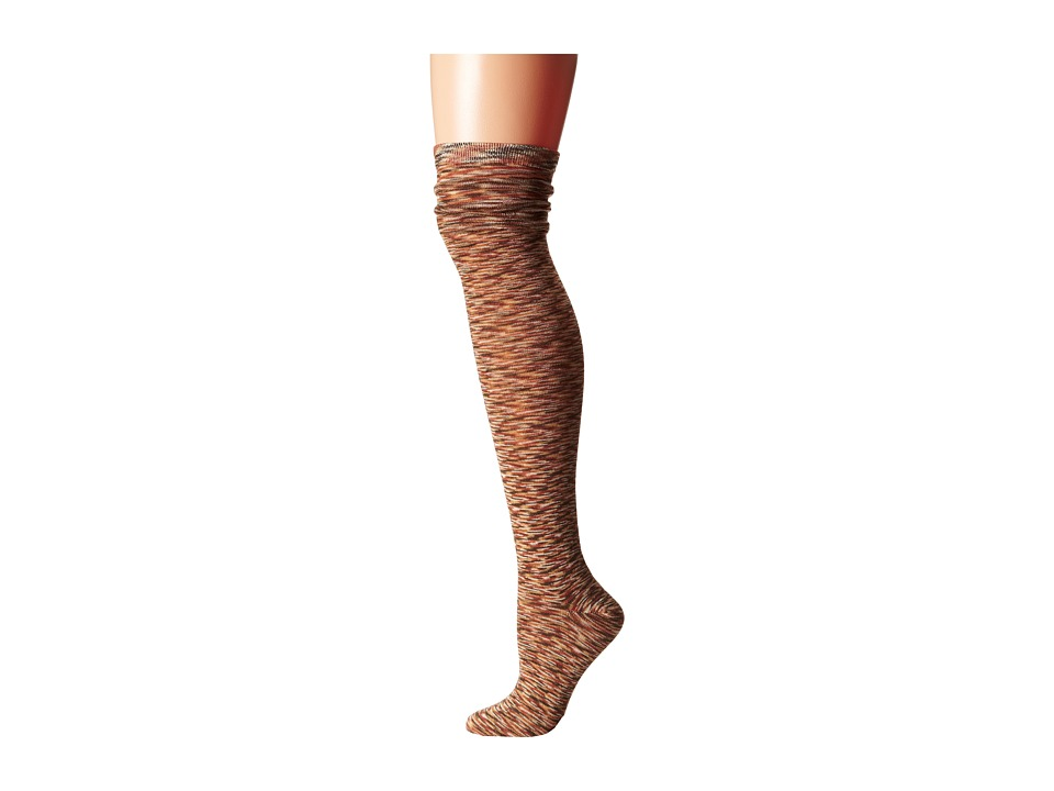 M&F Western - Blazin Roxx Fashion Sock (Brown/Light Brown) Women's Knee High Socks Shoes