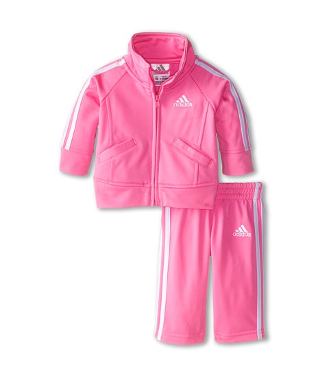 adidas Kids - Iconic Tricot Set (Infant) (Pink) Girl's Active Sets
