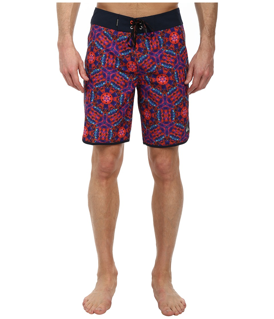 Quiksilver - Kaleido Scallop 19 Boardshort (Mandarine Red) Men's Swimwear