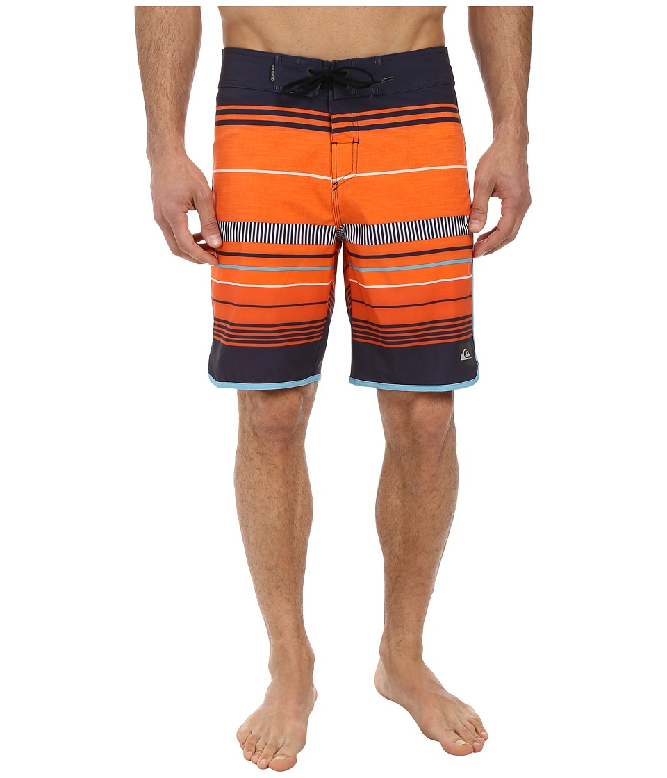 Quiksilver - AG47 Pacific Stripe 19 Boardshort (Mandarin Red) Men's Swimwear