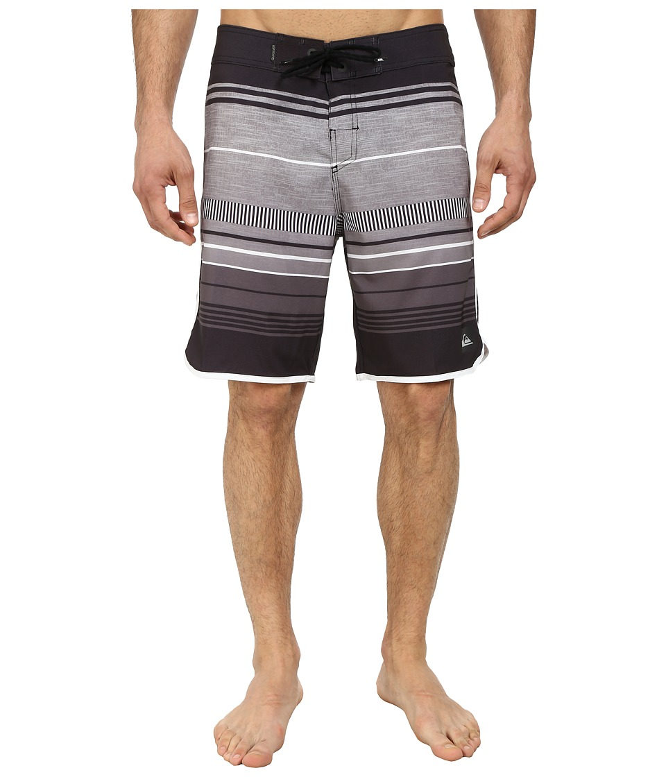 Quiksilver - AG47 Pacific Stripe 19 Boardshort (Black) Men's Swimwear