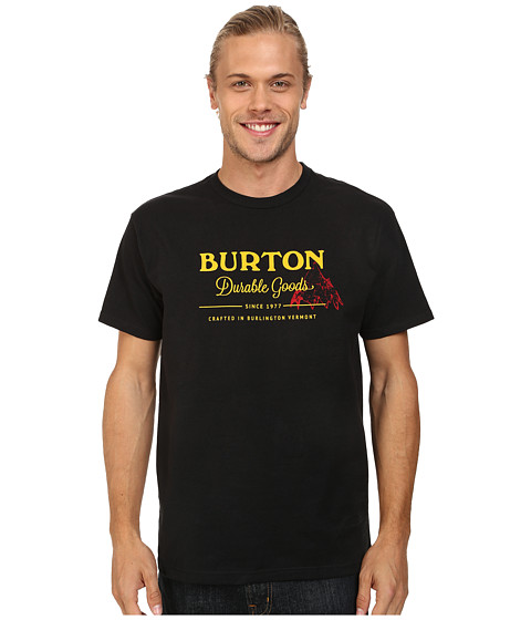 Burton - Durable Goods S/S Recycled Bottle Polyester (True Black) Men's T Shirt