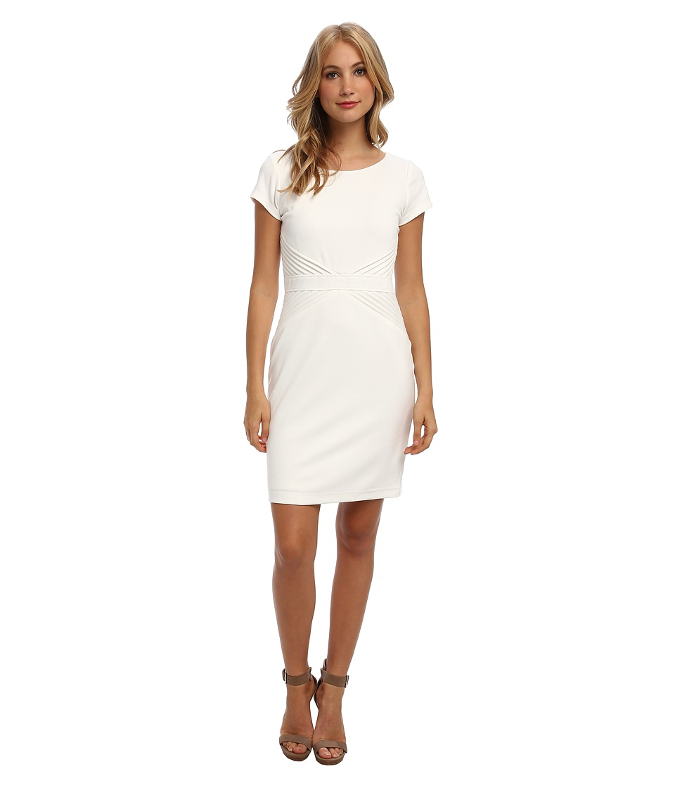 Ellen Tracy - Ponte T-Shirt Dress (Ivory) Women