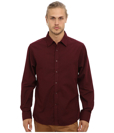 Sovereign Code - Eastside L/S Woven Shirt (Burgundy) Men's Clothing