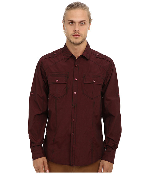 Sovereign Code - Steady L/S Shirt (Zinfandel) Men's Long Sleeve Button Up