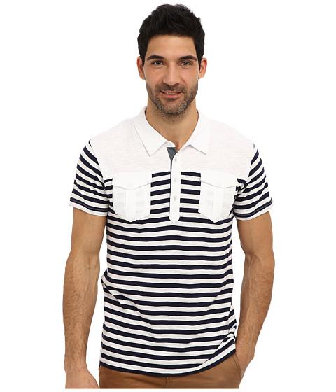 Sovereign Code - Malt Short Sleeve Knits (Navy Stripe) Men