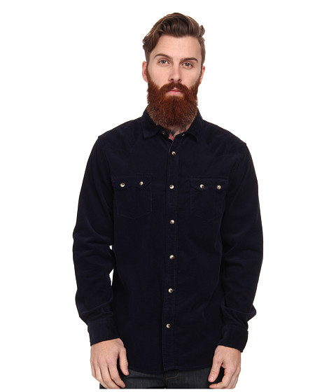 J.A.C.H.S. - Two-Pocket Corduroy Western (Blue) Men's Long Sleeve Button Up