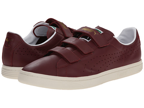 PUMA - Court Star Velcro (Zinfandel/Whisper White) Men's Hook and Loop Shoes