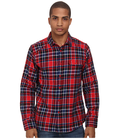 Element - Carnal L/S Woven (Red) Men's Long Sleeve Button Up