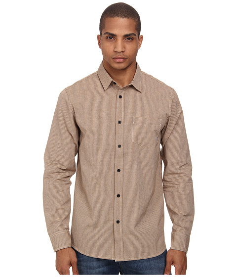 Element - Rickson L/S Woven (Black) Men's Long Sleeve Button Up