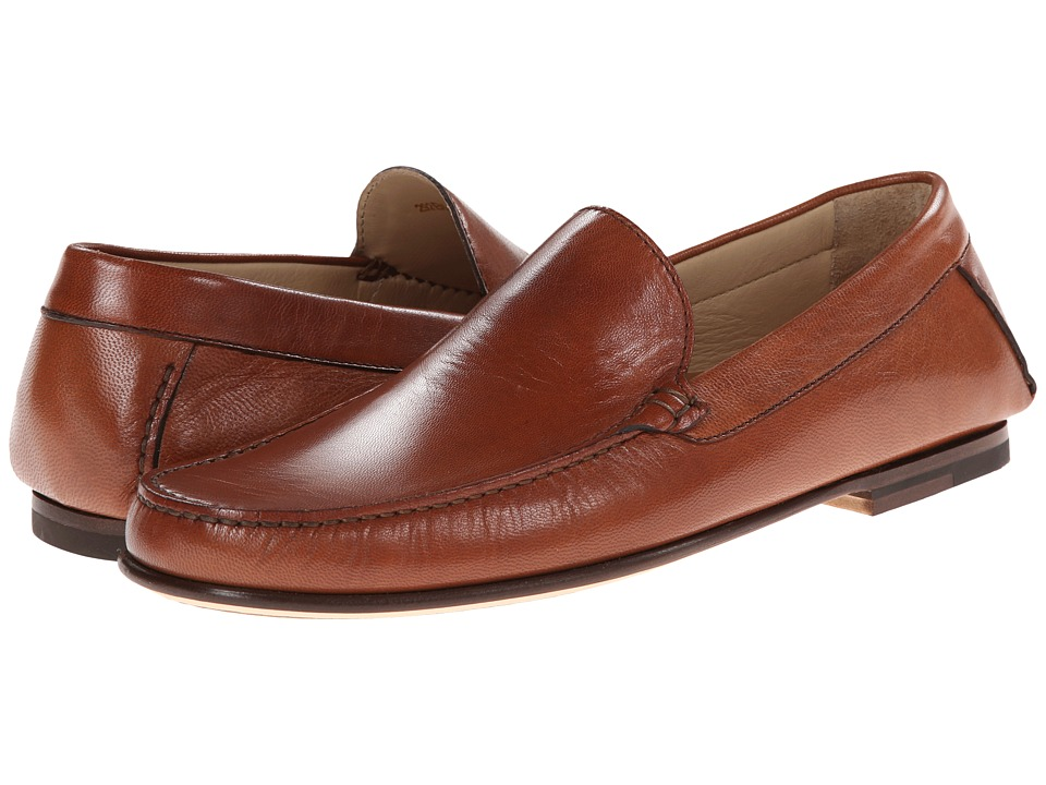 a. testoni - Shiny Kid Loafer (Caramel) Men's Slip on Shoes