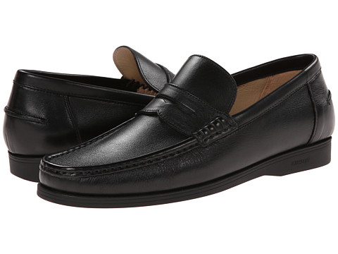 a. testoni - Sport Napa Calf Loafer (Nero) Men's Slip on Shoes