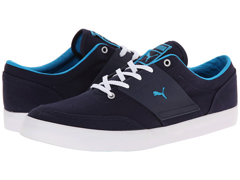 PUMA - El Ace 4 Textile (Peacoat/Hawaiian Ocean) Men