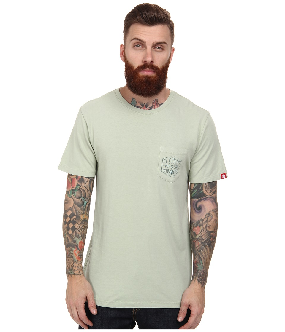 Element - Distort S/S Tee Shirt (Smoke Green) Men's T Shirt