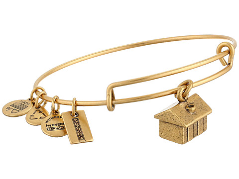 Alex and Ani - Monopoly Collection House Bangle (Rafaelian Gold Finish) Bracelet