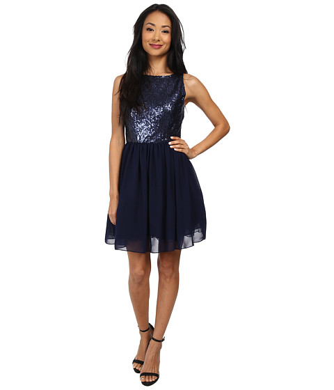 BB Dakota - Thorton Dress (Navy) Women's Dress