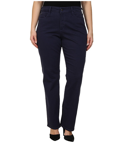 NYDJ Plus Size - Plus Size Marilyn Straight (Heritage Navy) Women