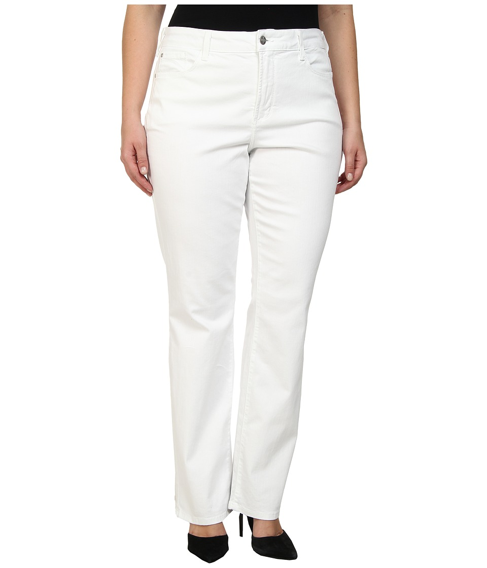 NYDJ Plus Size - Plus Size Marilyn Straight (Optic White) Women's Jeans
