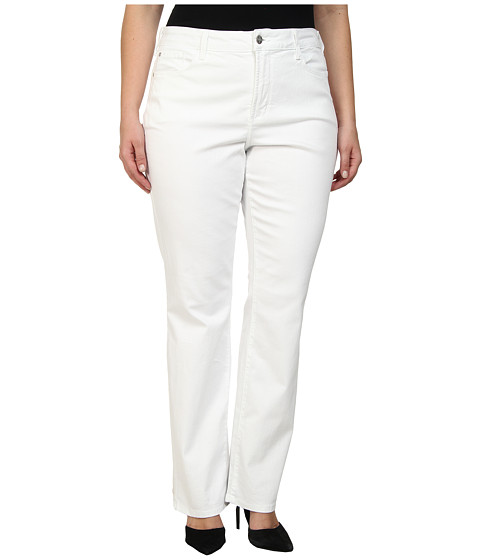 NYDJ Plus Size - Plus Size Marilyn Straight (Optic White) Women
