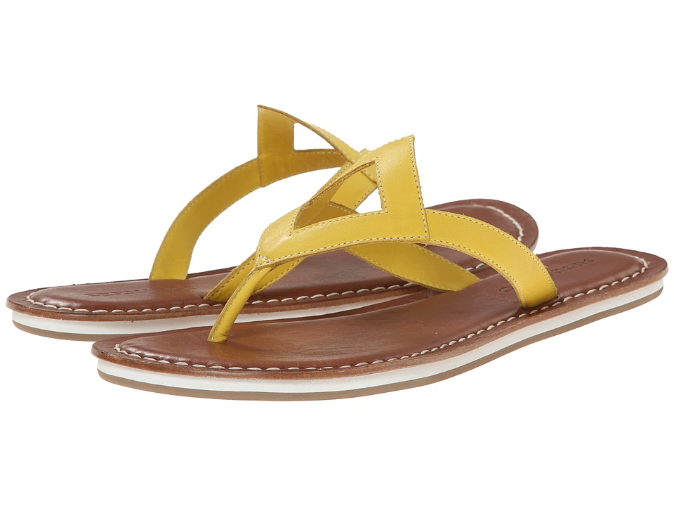 Bernardo - Geometric Eva (Yellow Calf) Women's Sandals
