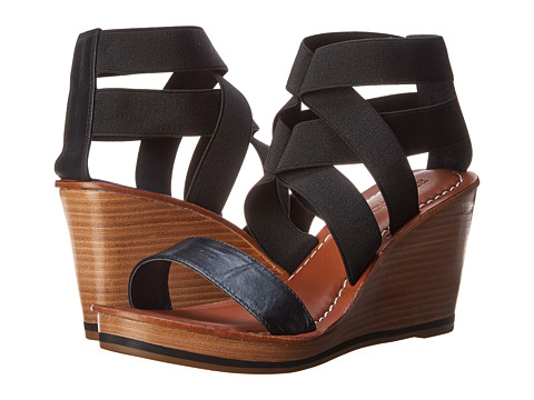 Bernardo - Kaila Elastic (Black Calf/Black Elastic) Women's Wedge Shoes
