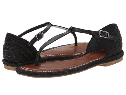 Bernardo - Mistral Jute (Black Calf) Women's Sandals