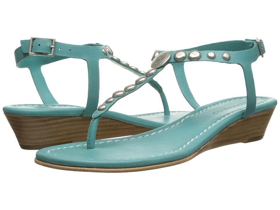 Bernardo - Mojo Wedge (Turquoise Calf) Women's Sandals