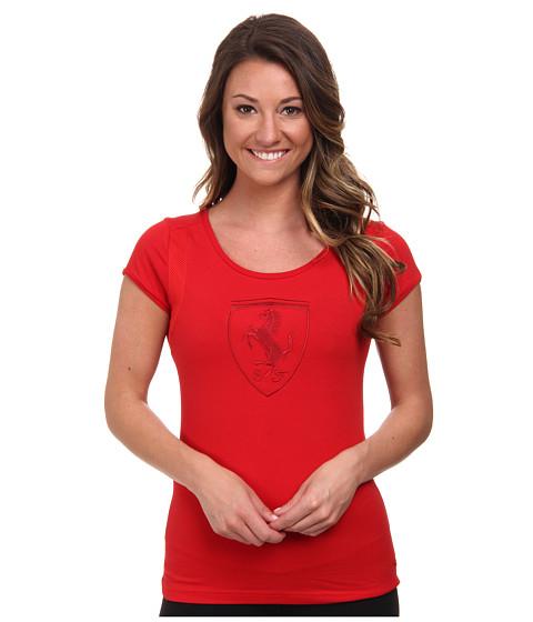 PUMA - Ferrari Shield Tee (Rosso Corsa) Women