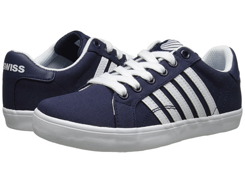 K-Swiss Kids - Belmont So T (Little Kid) (Navy/White) Kids Shoes