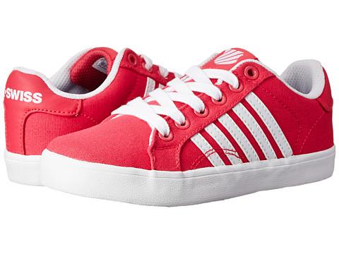 K-Swiss Kids - Belmont So T (Little Kid) (Raspberry/White) Girls Shoes