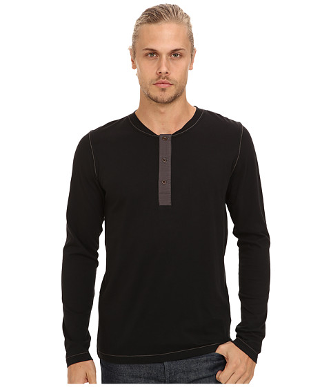 French Connection - Shooter Henley (Black) Men
