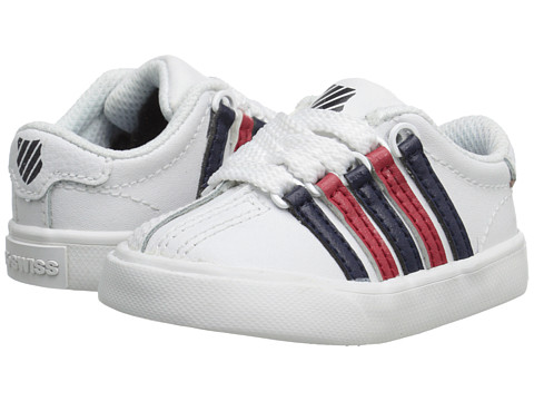 K-Swiss Kids - Classic VN (Infant/Toddler) (White/Navy/Red) Boys Shoes