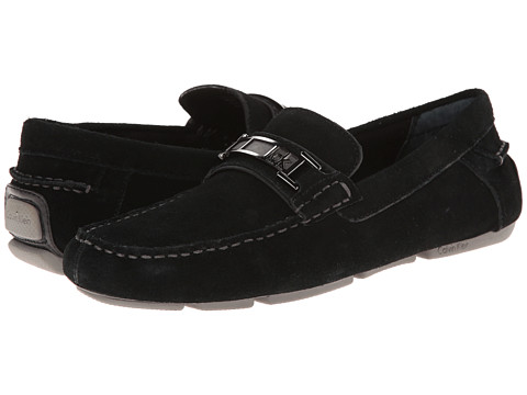 Calvin Klein - Moby (Black Suede) Men's Shoes