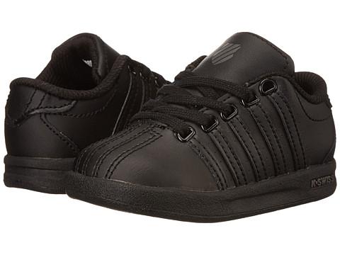 K-Swiss Kids - Court Pro (Infant/Toddler) (Black/Gull Gray) Kids Shoes