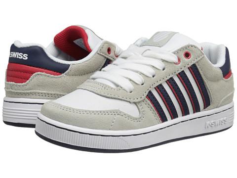 K-Swiss Kids - Jackson (Little Kid) (White/Bone/Navy/Red) Boys Shoes