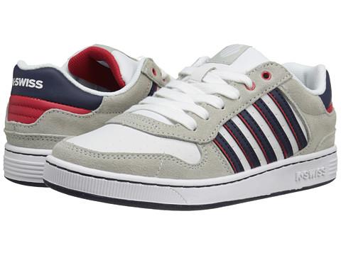 K-Swiss Kids - Jackson (Big Kid) (White/Bone/Navy/Red) Boys Shoes