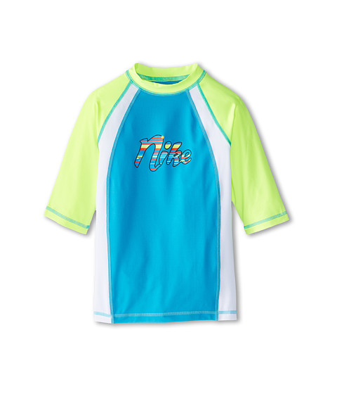 Nike Kids - Colorblock S/S Hydro Top (Big Kids) (Blue Lagoon) Girl